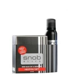 Snob Black For Men EDT 100 ml & 150 ml Deodorant