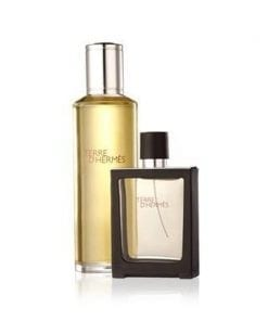 Hermes Terre dHermes Pure Parfum Spray EDP 125 ml & 30 ml Refill Travel