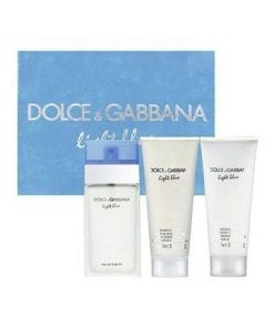 Dolce Gabbana Light Blue EDT 50 ml & vu00fccut kremi 50 ml & duu015f jeli 50 ml